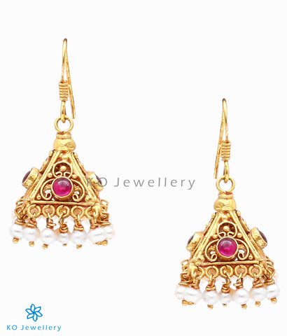 Buy temple jewellery gold dipped jhumkas online