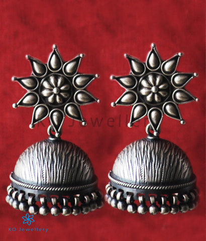 The Vihas Silver Jhumka (Oxidised)