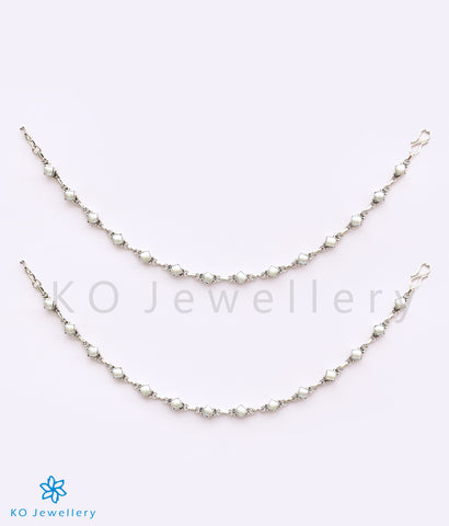 Gorgeous Indian jewellery silver ankle chain designs