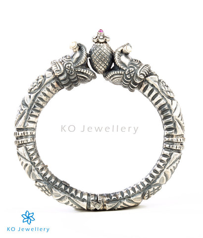 The Makara Antique Silver Kada
