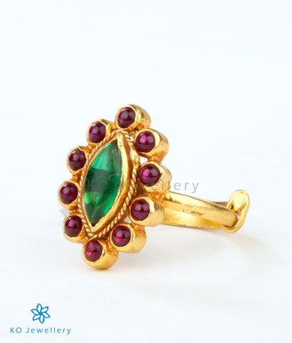 Handcrafted temple jewellery ethnic ring