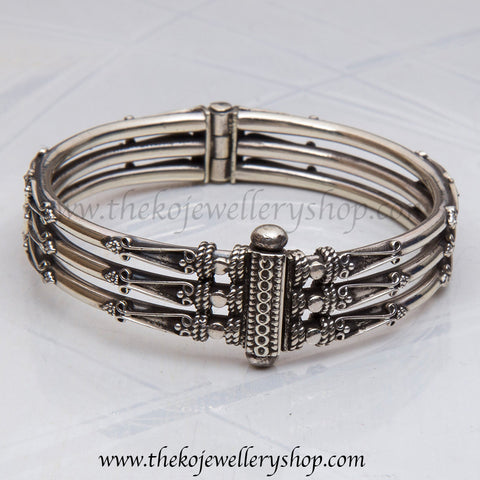 Intricate handcrafted Sterling Silver bangle buy online
