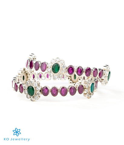 Green and red gemstone bracelet ethnic designs India