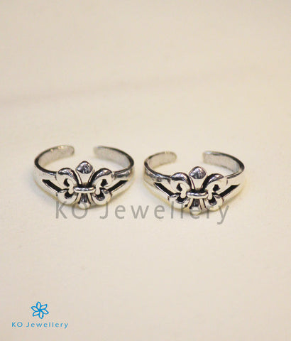 The Fleur Silver Toe-Rings
