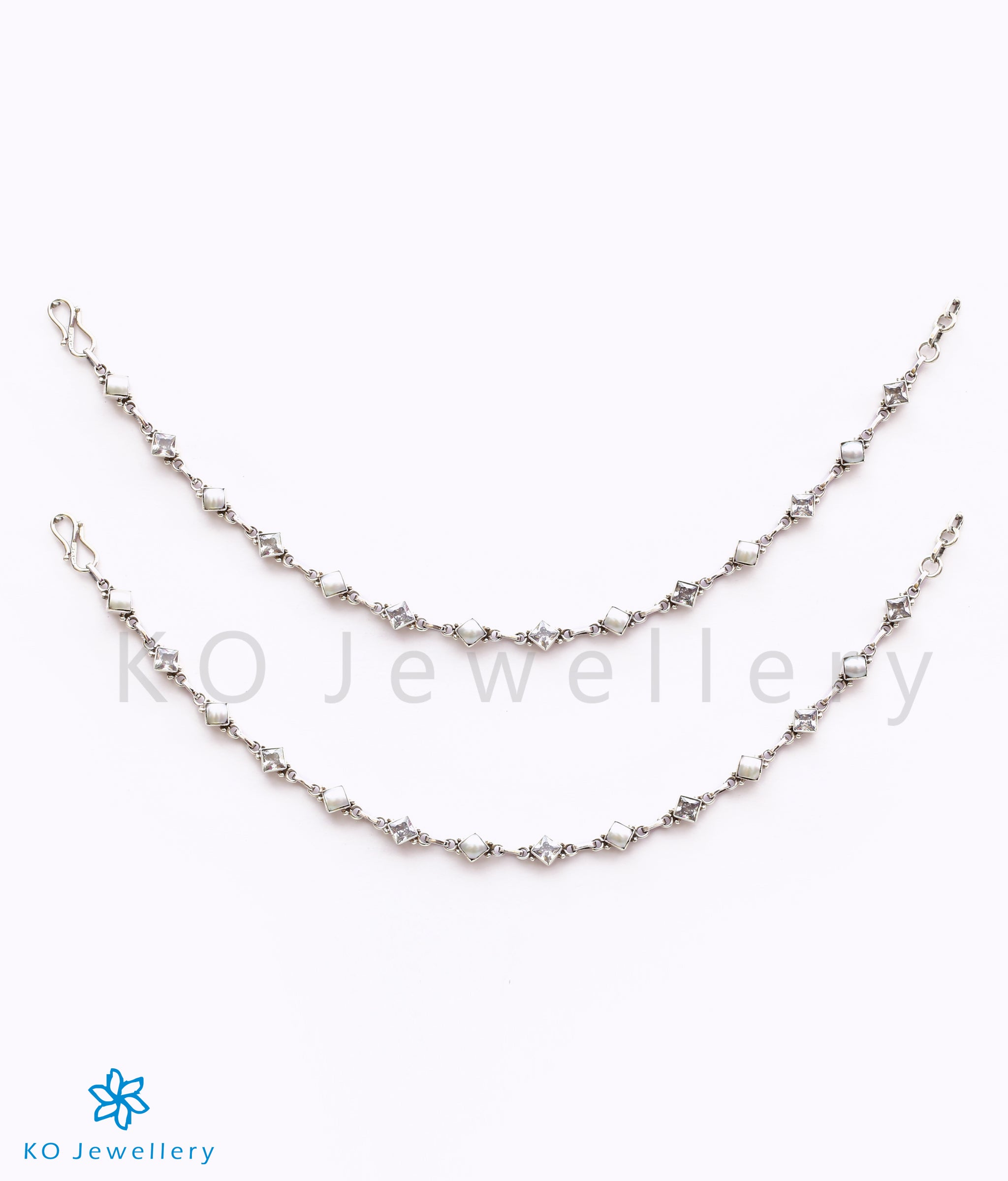 Buy women's silver anklets payal toe rings online, bridal