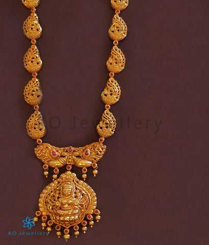 The Anisha Silver Lakshmi Nakkasi Necklace