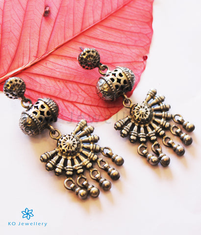 The Sarayu Silver Antique Earrings