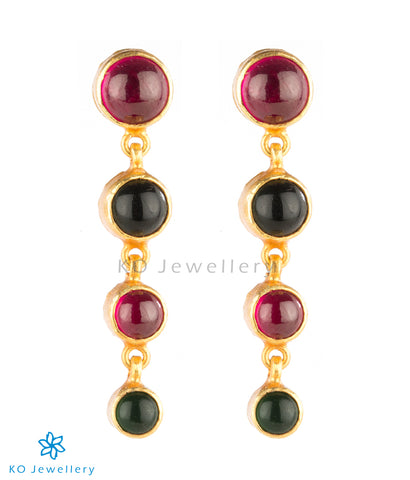 Gorgeous gold plated temple earrings online shopping