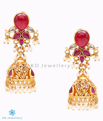 Authentic temple jewellery jhumkas online