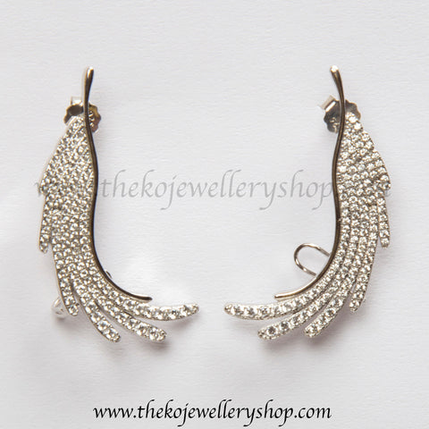 Online shopping pure silver ear cuffs for women