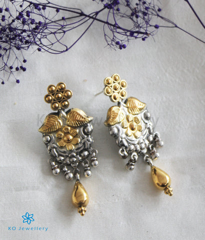 The Mansa Silver Earrings (Two-Tone)