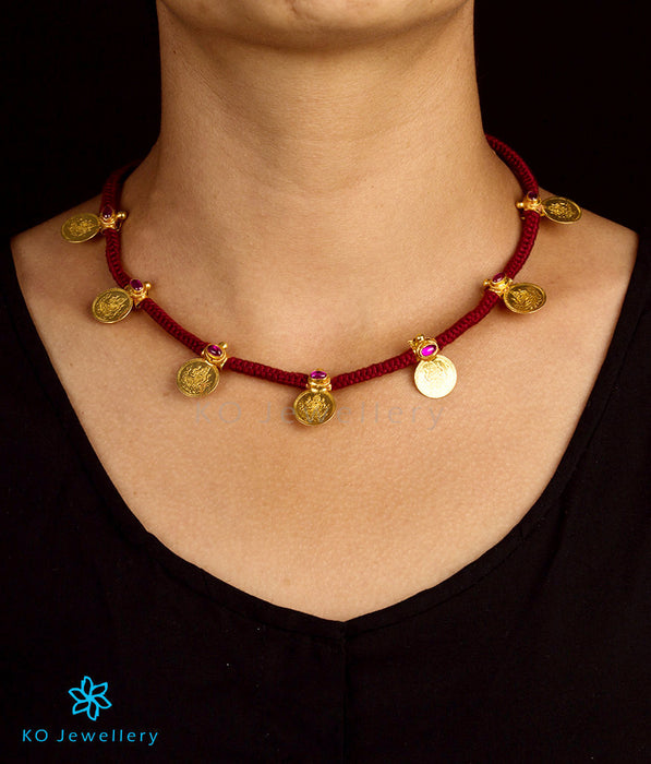 Stunning reversible necklace in traditional temple jewellery design