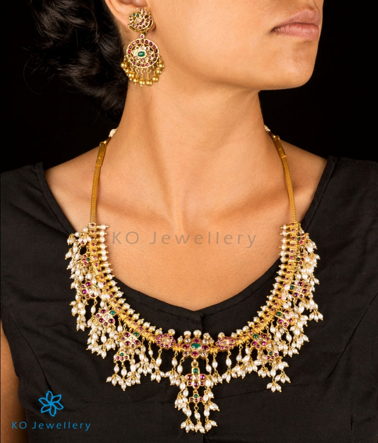 Traditional gold plated silver necklace KO online