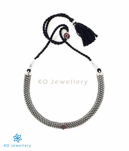 The Kavacha Silver Antique Necklace