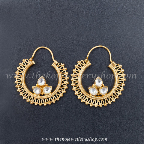 Sterling silver with jadau gold dipped earring shop online