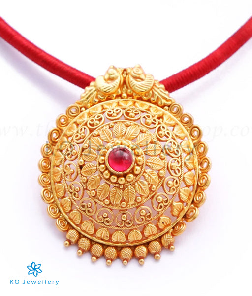 Pendants: Gold Plated Silver Temple Jewellery