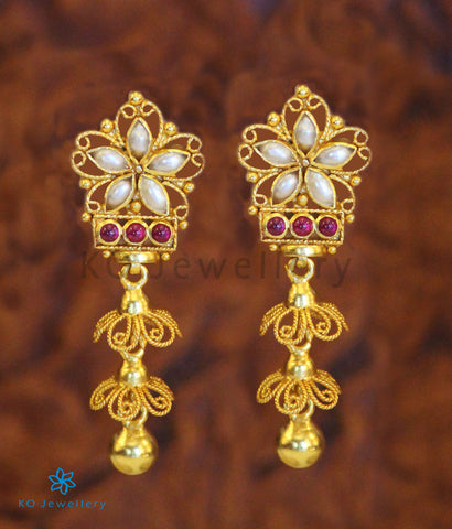 The Swara Silver Earrings