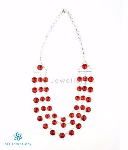 Gorgeous red onyx necklace in modern design