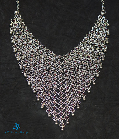 The Yudhvan Antique Silver Necklace (Oxidised)