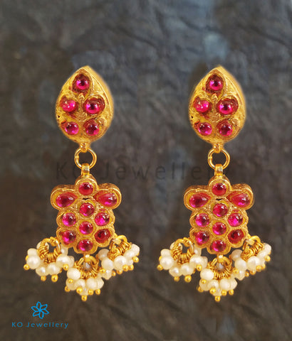 The Laiba Silver Kundan Earrings