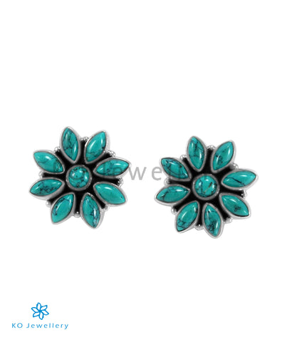 The Samad Silver Gemstone Earrings (Turquoise)