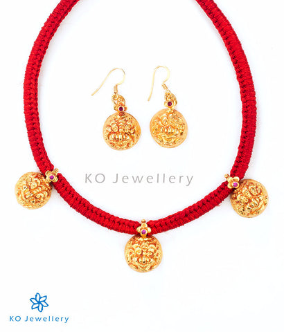 ancient South Indian antique jewellery set with lion motif