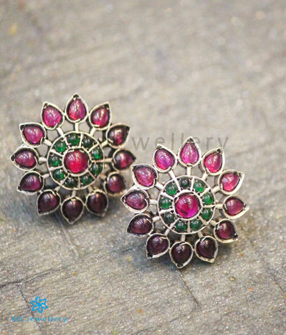 Copy of The Anahita Silver Ear-studs(Red)