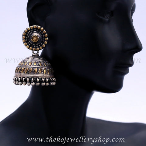 The Aamod Silver/Gold Jhumka