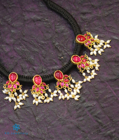 The Niraja Silver Necklace (Red)