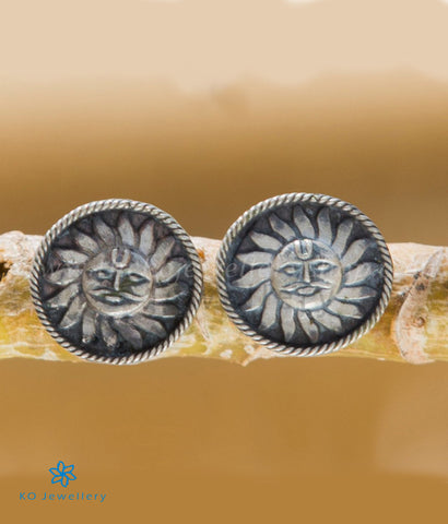 The Suryakanti Silver Ear-studs
