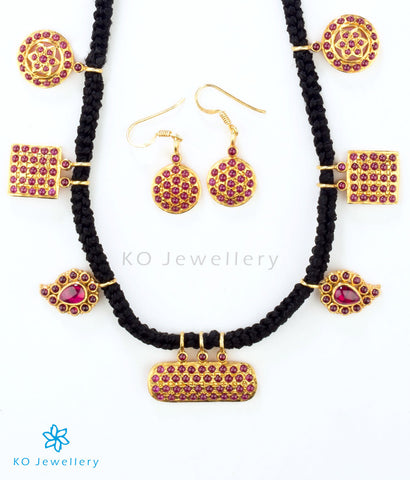 Traditional temple jewellery pendant set online shopping