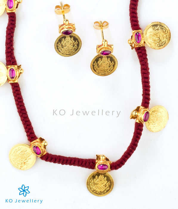 Reversible kasu-malai necklace ancient temple jewellery online