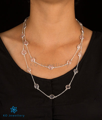 Handcrafted silver and rose-quartz jewellery online