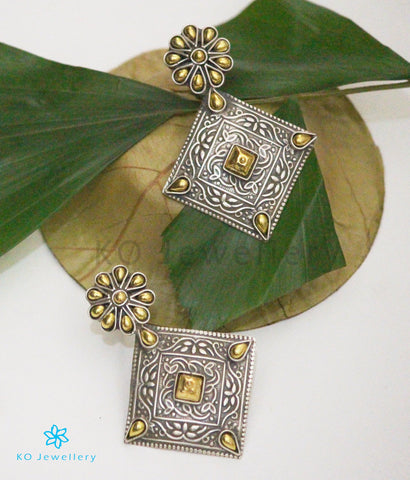 The Vashisht  Silver Earrings (Two-tone)