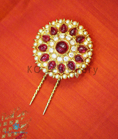 The Rasodbhava Silver Bridal Hair Pin