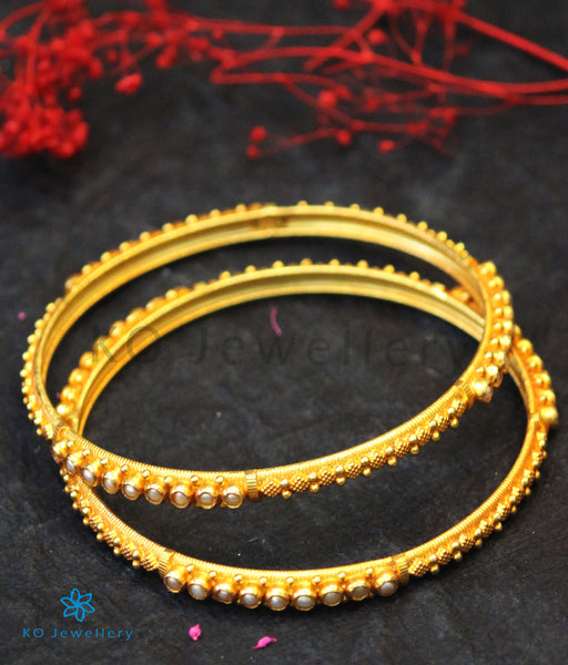 Pearl Jewellery in Gold Plated Silver - Bracelets and Bangles