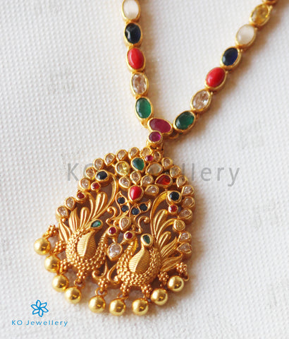 The Abhaya Silver Navratna Necklace