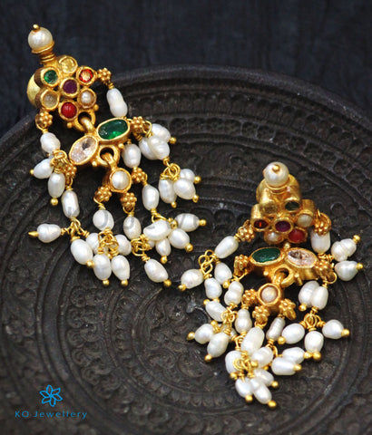 The Prati Silver Navratna Earrings