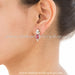 Small ruby studded with pure silver earring shop online