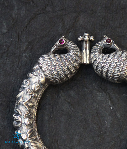 The Nritya Antique Silver Kada (Oxidised)