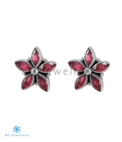 The Amita Silver Gemstone Ear-stud (Pink)
