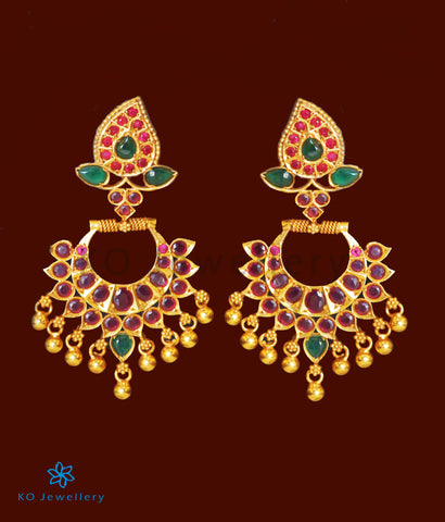 The Pitambara Silver Chand Bali Earrings