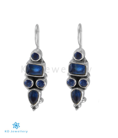 The Azra Silver Gemstone Earrings (Blue)