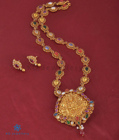The Anantanitya Silver Navarathna Necklace Set