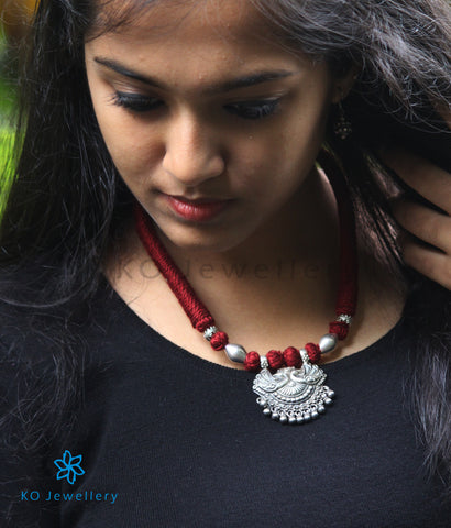The Tavus Silver Peacock Necklace