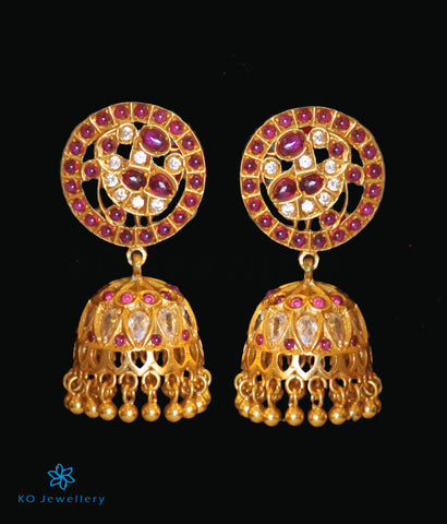 The Nritya Silver Peacock Jhumka