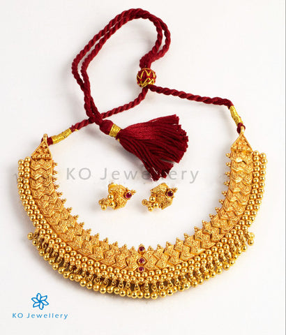 The Mandhitha Silver Gejje Necklace Set