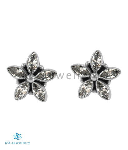 The Amita Silver Gemstone Ear-stud (White)