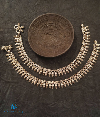 The Udaya Silver Bridal Anklets