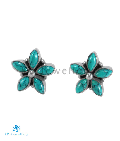 The Amita Silver Gemstone Ear-stud (Turquoise)